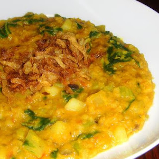 Red Lentil Stew With Fried Onions