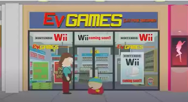 South Park: Cartman and the Nintendo Wii.