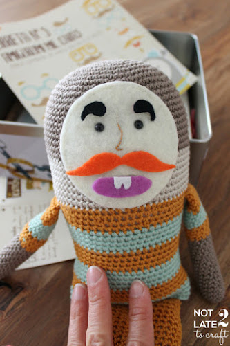 Not 2 late to craft: Mr Potato de ganxet i novetats al blog / Crocheted Mr Potato and news on the blog