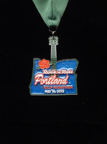2013 Rock 'n' Roll Portland Half Marathon medal