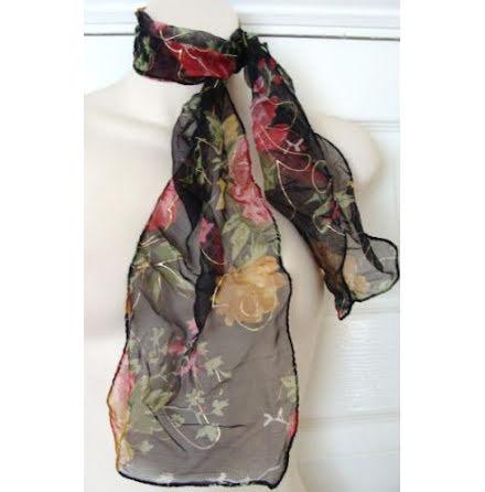 Blommig scarf