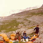 1980.07.01 Pyrenees,Ordesa  Canyon, Alan James in bivouac after accident.jpg