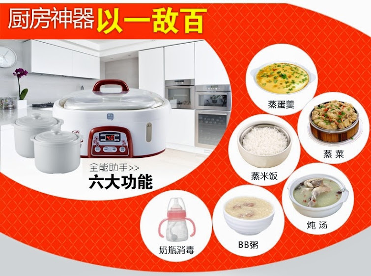 Built cooker in cooking rice quinoa