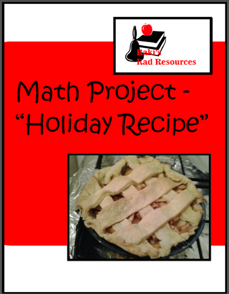 Practice real life math skills with your students by having them plan out the process of creating a special holiday recipe. Students will practice measurement, money, rounding, addition and elapsed. Free download from Raki's Rad Resources.