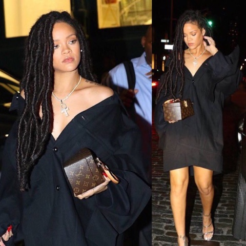 Rihanna wears Matthew Dolan in NYC