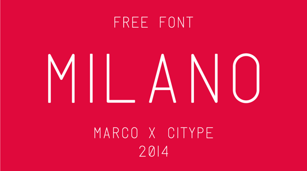 Milano Free Fonts