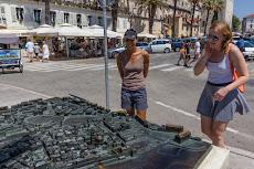 Barbara showing us around in Split