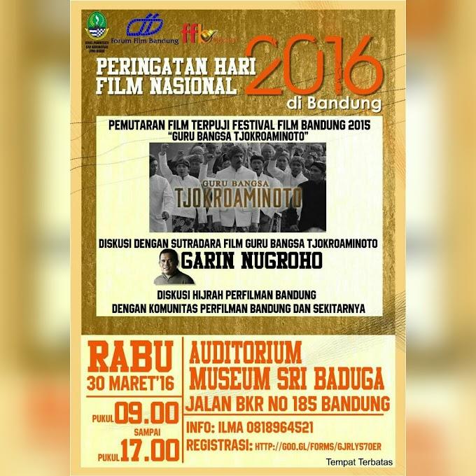 Undangan Peringatan Hari Film Nasional 2016 di Bandung