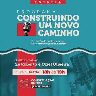 Programa de rádio da Prefeitura de Cuitegi tem nova data; estreia será dia 16 de abril