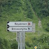 Onderweg naat de Bøyabreen-gletsjer.