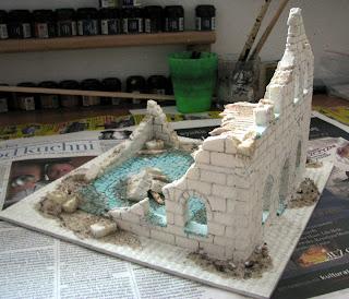 makieta ruin miasta