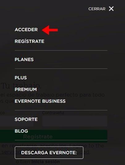 Abrir mi cuenta Evernote - 356