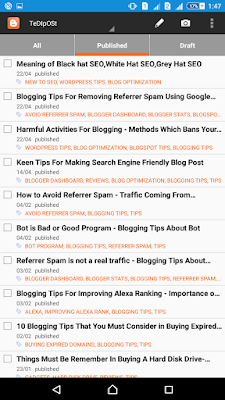 Blogspot Android Application Review