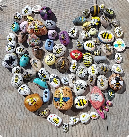Manchester Arena terror attack  anniversary - worker bee pebbleart (1)
