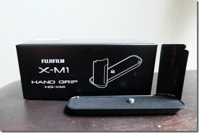 Fujifilm X-M1 hand grip