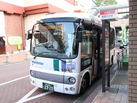 西日本鉄道 高宮循環線 7831 高宮駅にて