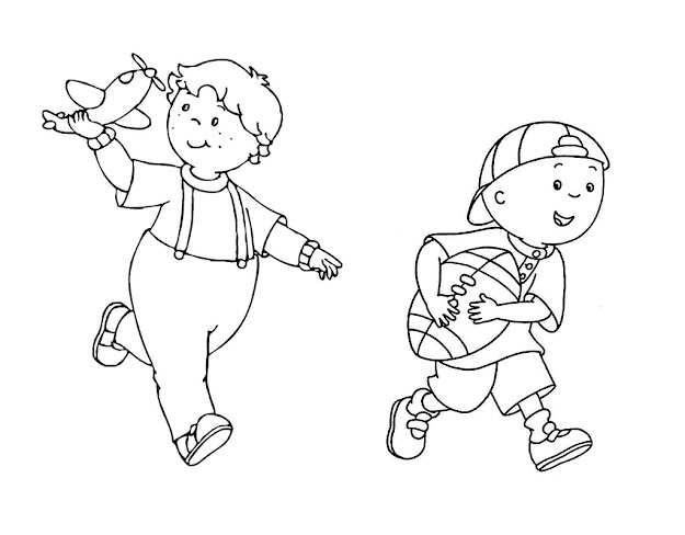 Adult Caillou Coloring Page Pages Games Printable Elmo Mecaillou Extra  Medium Size