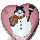 8. kép: Karácsonyi torták - Hóember rajzos torta