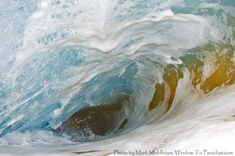 Photo: Inside a barrel this morning before sun up :) Big Beach Maui Hawaii
