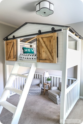 sliding door loft bed