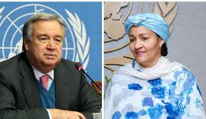 UN Secretary General and his deputy, Amina Mohammed, react to #EndSARS protests