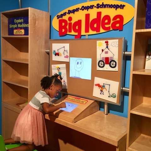 top black mom mommy blogger Children's museum of Atlanta georgia play learn science black brown girl brave PR super duper ooper schmooper big idea