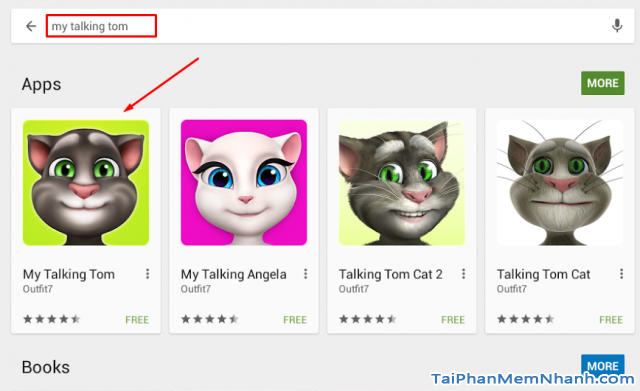 tìm game my talking tom