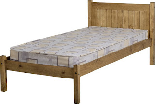 Awesome SALE u single Mayo wax bed frame