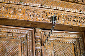 Antique door at Shangri-La Hotel Chilas