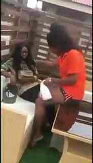 Lesbian Caught Slapping Her Partner For Allegedly Sleeping With A Man