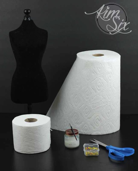 How to make paper towel dress
