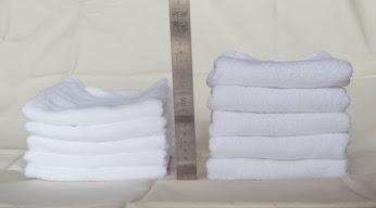 左が洗う前で右が洗った後、1.5倍に膨らむ