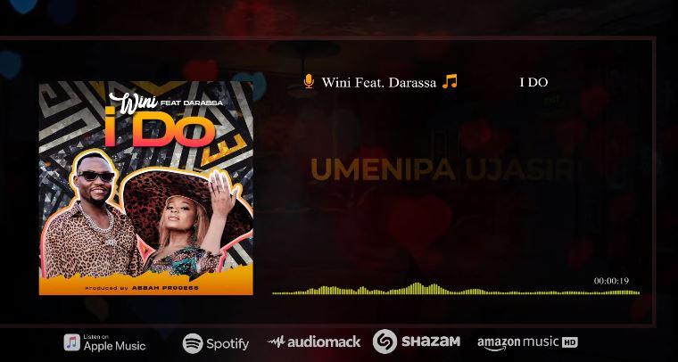 VIDEO   Wini Ft. Darassa - I Do (Lyrics Visualizer)   Mp4 Download