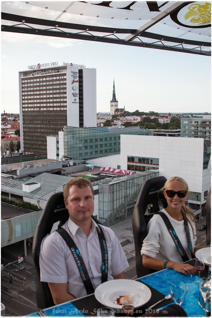 Dinner In The Sky, Tallinn 2014.08.12 / foto: Ardo Säks, www.vabaaeg.eu