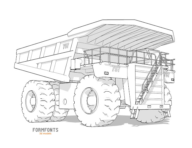 Free Printable Coloring Pages Construction Vehicles With Template To Color  Vehicle Pages