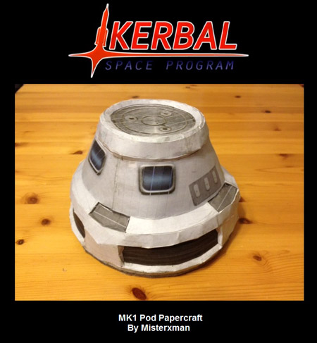 Kerbal Space Program Papercraft MK1 Pod