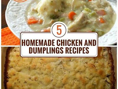 5 Homemade Chicken and Dumplings Recipes