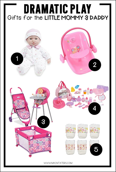 Dramatic Play Gift Guide-Gifts for the Little Mommy & Daddy-Baby Pretend Play