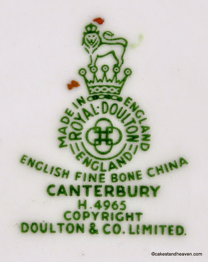 Royal Doulton Canterbury Backstamp