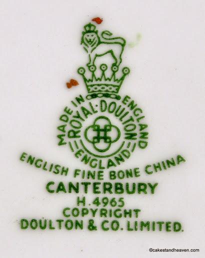 Royal Doulton Canterbury Backstamp