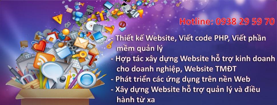Thiết kế Website giá rẻ, viết code PHP, Viết phần mềm quản lý
