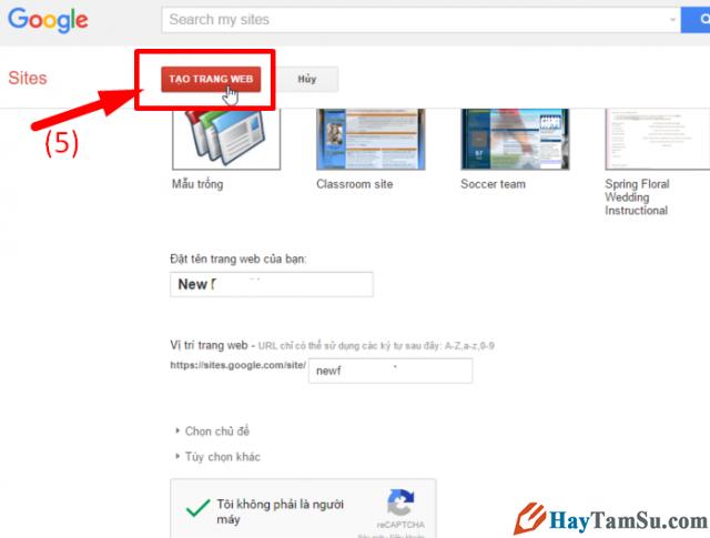 Google Sites là gì? Hướng dẫn cách tạo website miễn phí với Google Sites + Hình 6