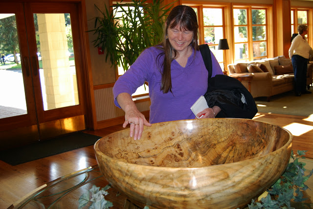Feeling the smooth marble of a bowl sculptureCredit: Bellingham Whatcom County Tourism