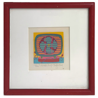 Clayton Pond Signed Miniature 'Fan' Serigraph