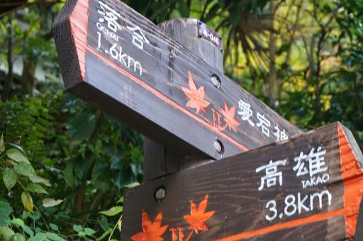 愛宕神社への分岐