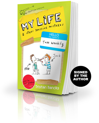 Buy a copy of My Life & Other Massive Mistakes, signed by the author Tristan Bancks