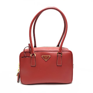 Prada Red Leather Handbag
