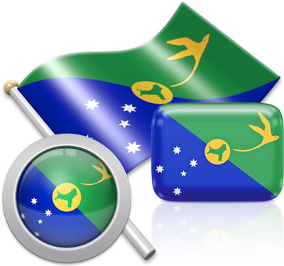 Christmas-Island flag icons pictures collection