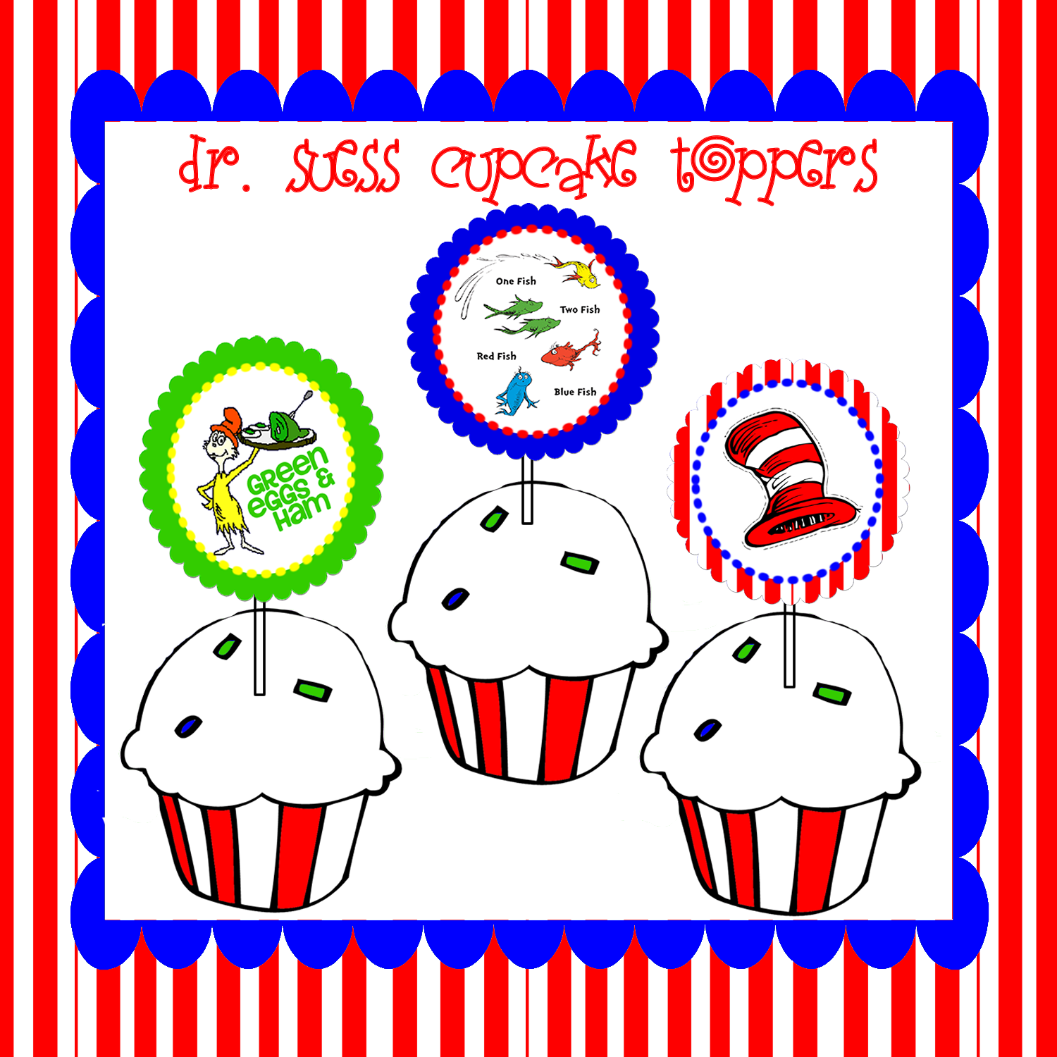 It's just a graphic of Crazy Free Dr Seuss Birthday Printables