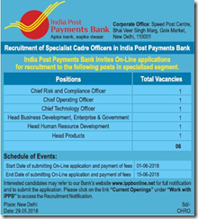 IPPB Recruitment 2019 - Apply Online 05 Manager, Officer